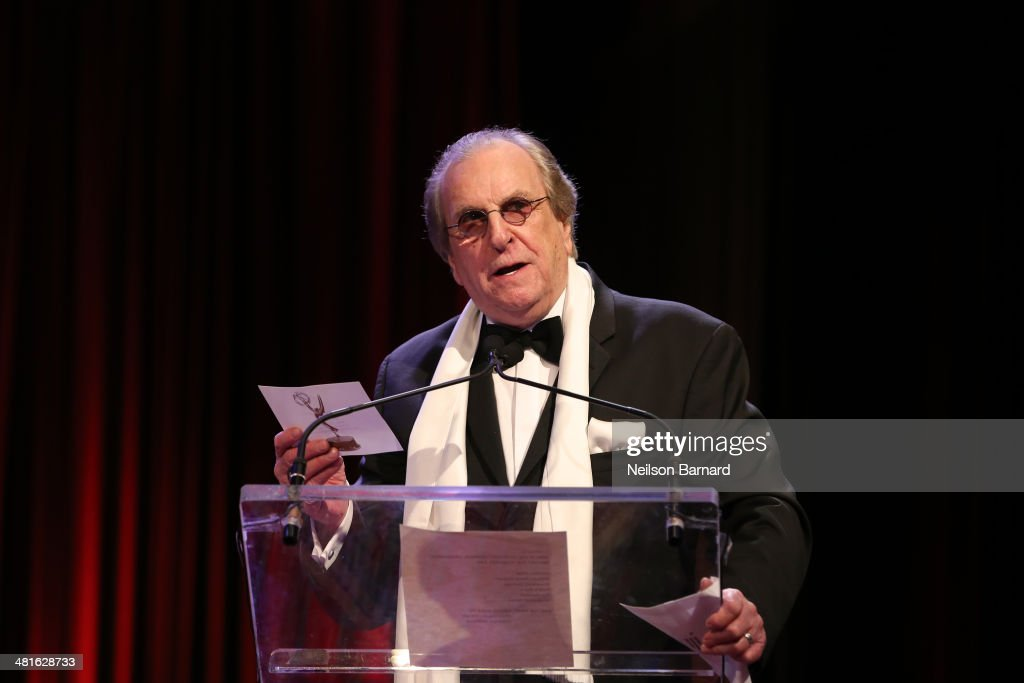 "Academy Award nominee for ""Do the Right Thing"" actor singer Danny Aiello speaks at the 57th Annual New York Emmy awards at Marriott Marquis Times..."