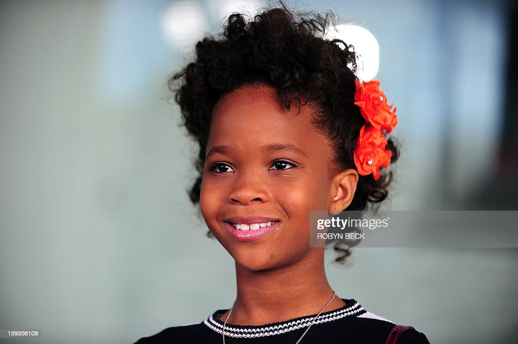 Academy Award nominee Quvenzhané Wallis arrives for the Film Independent Spirit Awards Nominees Brunch on January 12, 2013 in West Hollywood, California. The 2013 Spirit Awards will be held on February 23 in Santa Monica. AFP PHOTO / Robyn Beck
