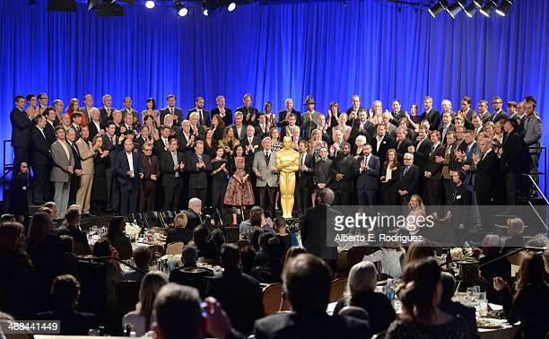 Academy Award nominees inlcuding Sandra Bullock Bradley Cooper Steve Coogan Rachel Winter Christian Bale David O Russell Amy Adams Esteban Crespo...