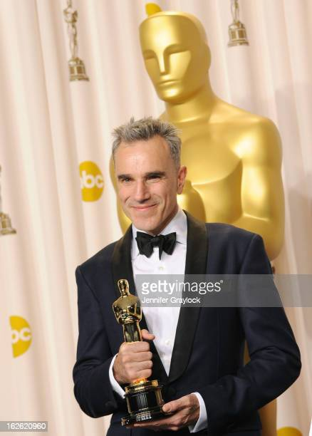 Academy Award Winner Best Actor for 'Lincoln' Daniel DayLewis in the press room during the 85th Annual Academy Awards held at the Loews Hollywood...
