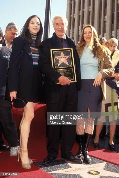 Academy award winning actor Martin Landau poses with his daughters actress Juliet Landau and producer Susie Landau Finch during ceremonies to honor...