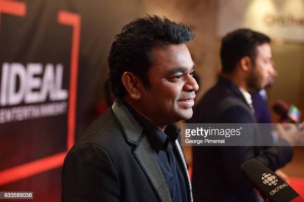 Academy Award winning composer AR Rahman attends the Ideal Entertainment Launch at Sony Centre For Performing Arts on February 2 2017 in Toronto...