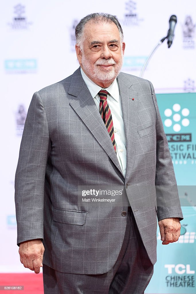 Academy Award winning filmmaker <a gi-track='captionPersonalityLinkClicked' href=/galleries/search?phrase=Francis+Ford+Coppola&family=editorial&specificpeople=204241 ng-click='$event.stopPropagation()'>Francis Ford Coppola</a> is honored by TCM with a Hand/Footprint Ceremony at TCL Chinese Theatre IMAX on April 29, 2016 in Hollywood, California.