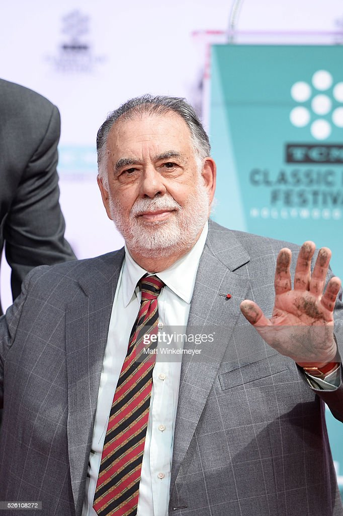 Academy Award winning filmmaker <a gi-track='captionPersonalityLinkClicked' href=/galleries/search?phrase=Francis+Ford+Coppola&family=editorial&specificpeople=204241 ng-click='$event.stopPropagation()'>Francis Ford Coppola</a> poses for a photo after he applied his handprint as TCM honors him with a Hand/Footprint Ceremony at TCL Chinese Theatre IMAX on April 29, 2016 in Hollywood, California.