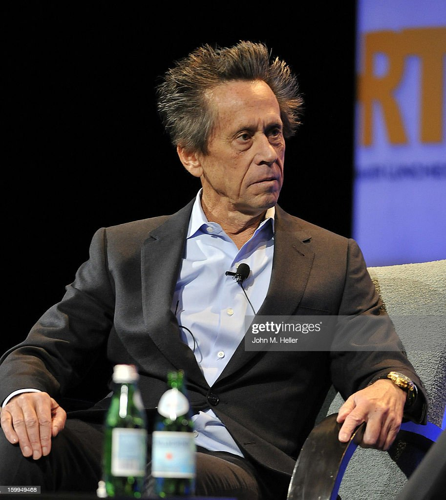 Academy Award Winning Producer and Co-Chairman of Imagine Entertainment <a gi-track='captionPersonalityLinkClicked' href=/galleries/search?phrase=Brian+Grazer&family=editorial&specificpeople=203009 ng-click='$event.stopPropagation()'>Brian Grazer</a> interviews Chairman & Chief Executive Officer of the Walt Disney Company Robert A. Iger at the Hollywood Radio & Television Society Newsmaker Luncheon Series at The Beverly Hilton Hotel on January 23, 2013 in Beverly Hills, California.