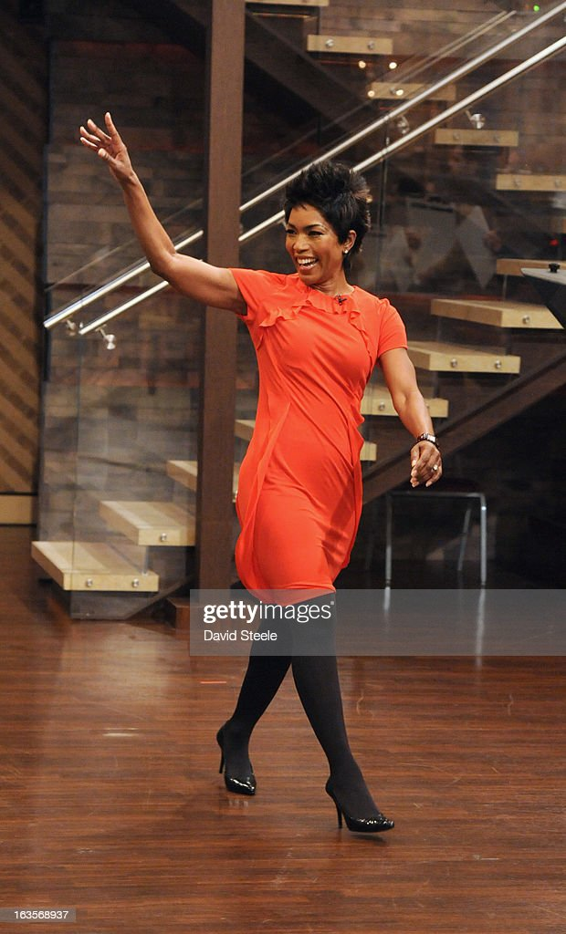 """MICHAEL -3/11/13 - Academy Award®-nominated actress ANGELA BASSETT previews the new film """"Olympus Has Fallen,"""" today on 'LIVE with Kelly and Michael,' distributed by Disney-ABC Domestic Television. ANGELA"""