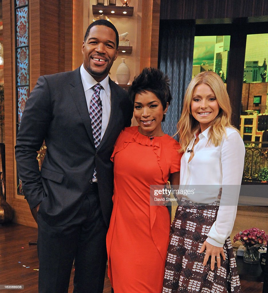 """MICHAEL -3/11/13 - Academy Award®-nominated actress ANGELA BASSETT previews the new film """"Olympus Has Fallen,"""" today on 'LIVE with Kelly and Michael,' distributed by Disney-ABC Domestic Television. RIPA"""