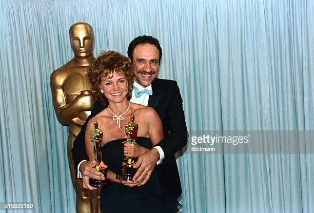Academy Awards Los Angeles Best actor F Murry Abraham and best actress Sally Field pose with their Oscars 3/25 Abraham won for his role in Amadeus...