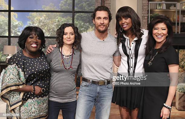 Academy Awardwinning actor Matthew McConaughey visits the ladies of 'The Talk' Monday November 17 2014 on the CBS Television Network From left Sheryl...