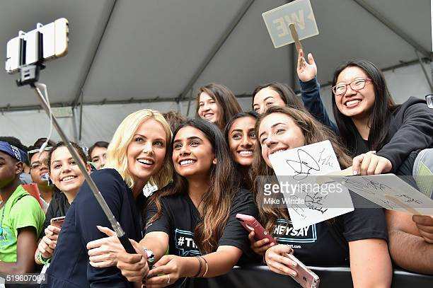 Academy® Awardwinning actress and Founder of Charlize Theron Africa Outreach Project and Honorary CoChair of WE Day California Charlize Theron poses...