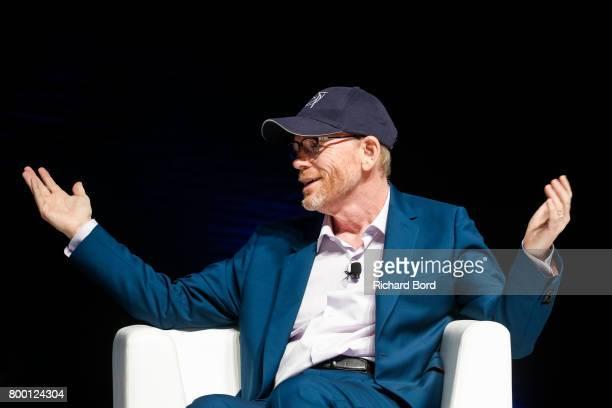 Academy Awardwinning Filmmaker Ron Howard speaks during the Cannes Lions Festival 2017 on June 23 2017 in Cannes France