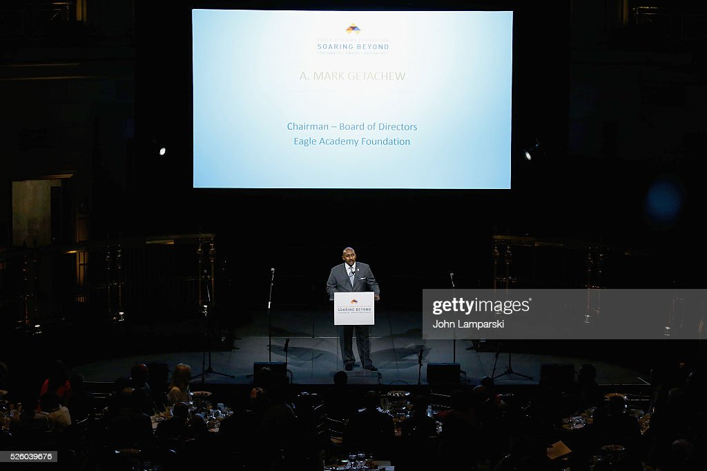 Academy Chairman A, Mark Getachew attends 2016 Eagle Academy Foundation Fundraising Breakfast at Gotham Hall on April 29, 2016 in New York City.