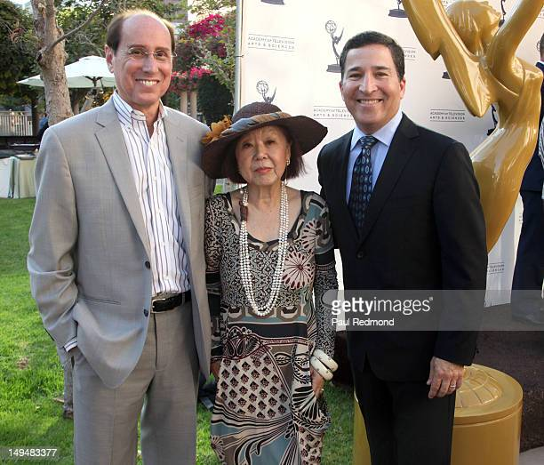 Academy COO Alan Perris President of the Costume Designers Guild Mary Rose and Academy CEO Bruce Rosenblum attend The Academy Of Television Arts...