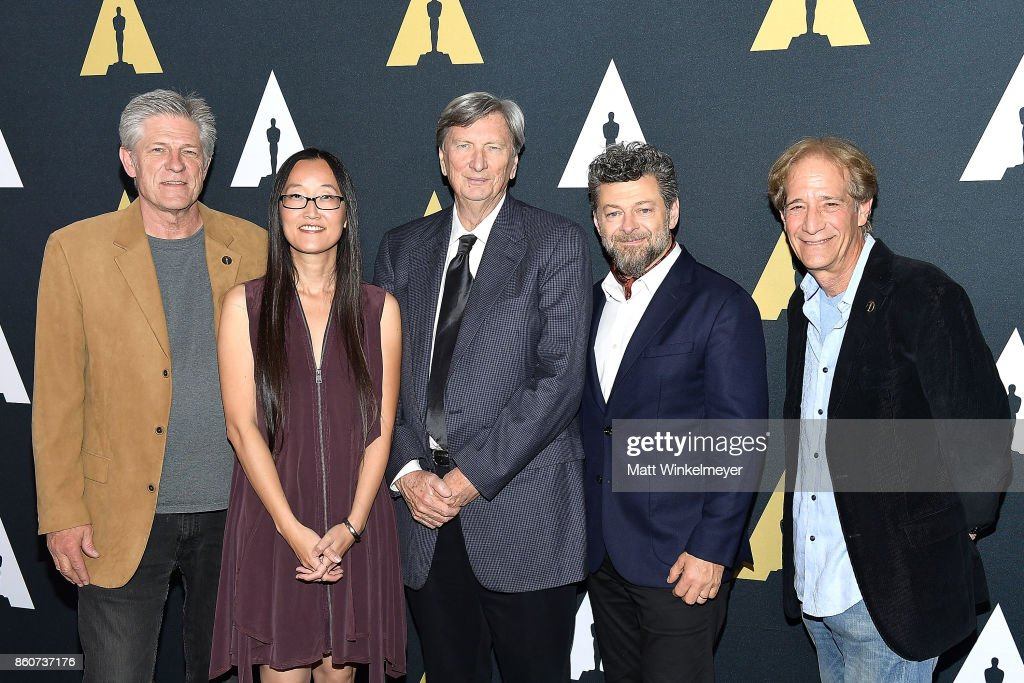 Academy governor Bill Kroyer, director Jennifer Yuh Nelson, Academy president John Bailey, actor/director Andy Serkis and Academy governor Jon Bloom attend the Academy of Motion Picture Arts and Sciences 44th Student Academy Awards at Samuel Goldwyn Theater on October 12, 2017 in Beverly Hills, California.