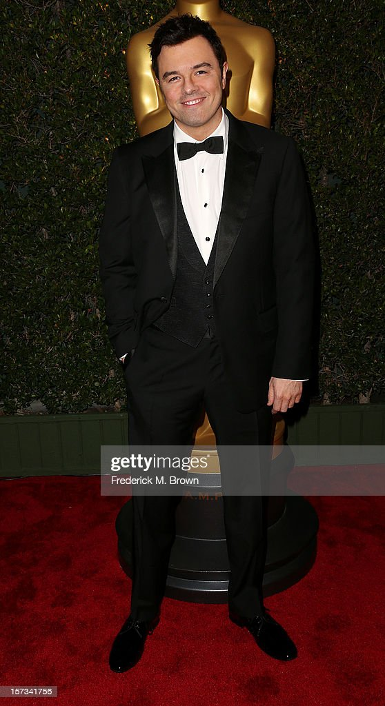 Academy host Seth MacFarlane attends the Academy Of Motion Picture Arts And Sciences' 4th Annual Governors Awards at Hollywood and Highland on December 1, 2012 in Hollywood, California.