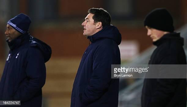 Academy Manager John McDermott looks on during the NextGen Series Quarter Final between Tottenham Hotspur U19 and Sporting Clube de Portugal U19 at...