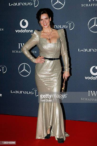 Academy member Katarina Witt attends the 2012 Laureus World Sports Awards at Central Hall Westminster on February 6 2012 in London England