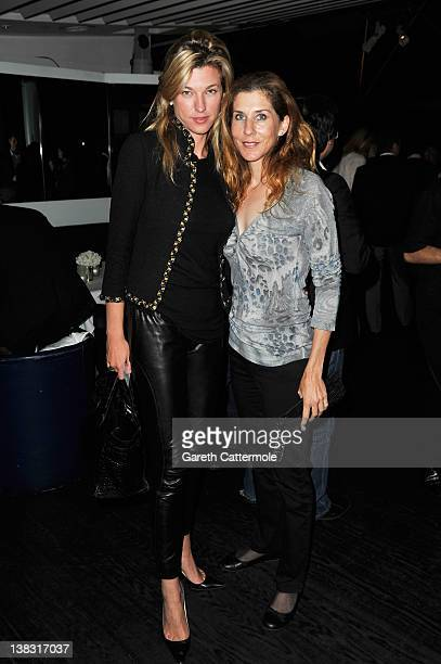 Academy member Monica Seles and guest attend the Laureus Welcome Party as part of the Laureus World Sports Awards 2012 at the OXO Tower on February 5...