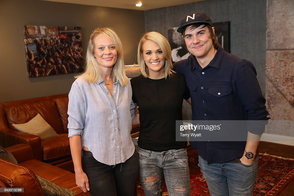 Academy of Country Music CEO Tiffany Moon, Singer-songwriter <a gi-track='captionPersonalityLinkClicked' href=/galleries/search?phrase=Carrie+Underwood&family=editorial&specificpeople=204483 ng-click='$event.stopPropagation()'>Carrie Underwood</a> and Producer <a gi-track='captionPersonalityLinkClicked' href=/galleries/search?phrase=Ross+Copperman&family=editorial&specificpeople=4264502 ng-click='$event.stopPropagation()'>Ross Copperman</a> attend the ACM Lifting Lives Music Camp Studio Day at Belmont University's Ocean Way Nashville Studios on June 27, 2016 in Nashville, Tennessee.