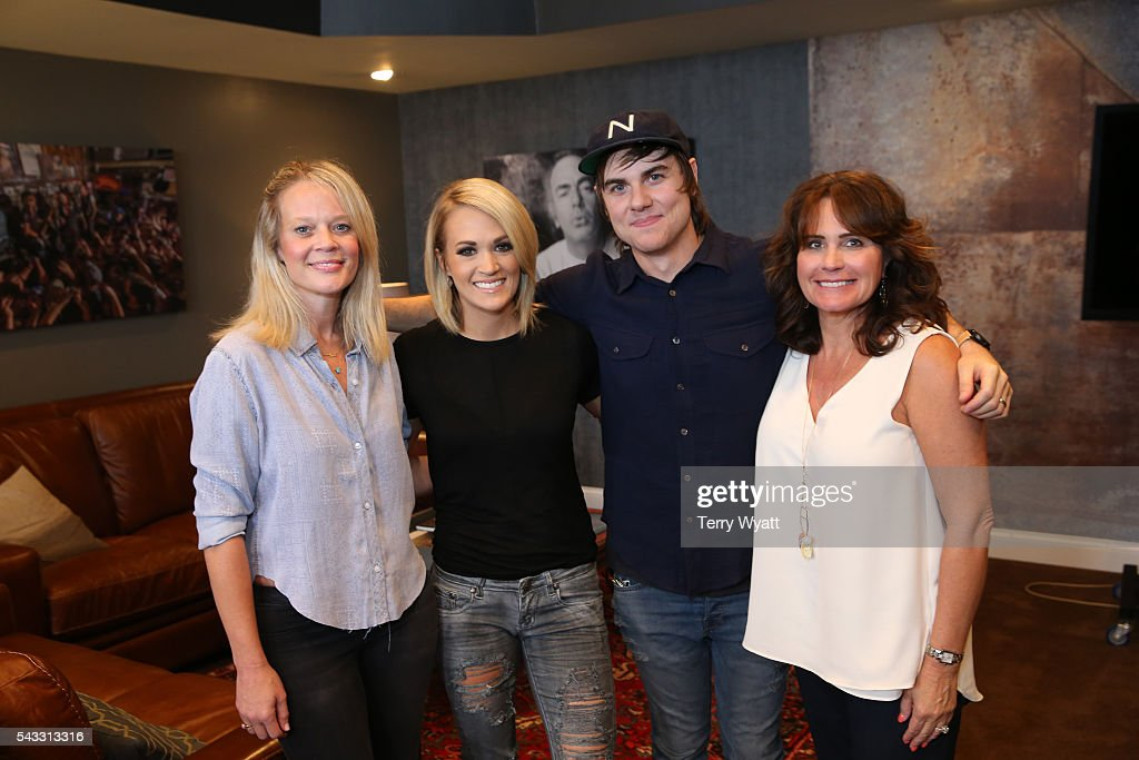 Academy of Country Music CEO Tiffany Moon, Singer-songwriter <a gi-track='captionPersonalityLinkClicked' href=/galleries/search?phrase=Carrie+Underwood&family=editorial&specificpeople=204483 ng-click='$event.stopPropagation()'>Carrie Underwood</a>, Producer <a gi-track='captionPersonalityLinkClicked' href=/galleries/search?phrase=Ross+Copperman&family=editorial&specificpeople=4264502 ng-click='$event.stopPropagation()'>Ross Copperman</a> and Vanderbilt's Lorie Lytle attend the ACM Lifting Lives Music Camp Studio Day at Belmont University's Ocean Way Nashville Studios on June 27, 2016 in Nashville, Tennessee.