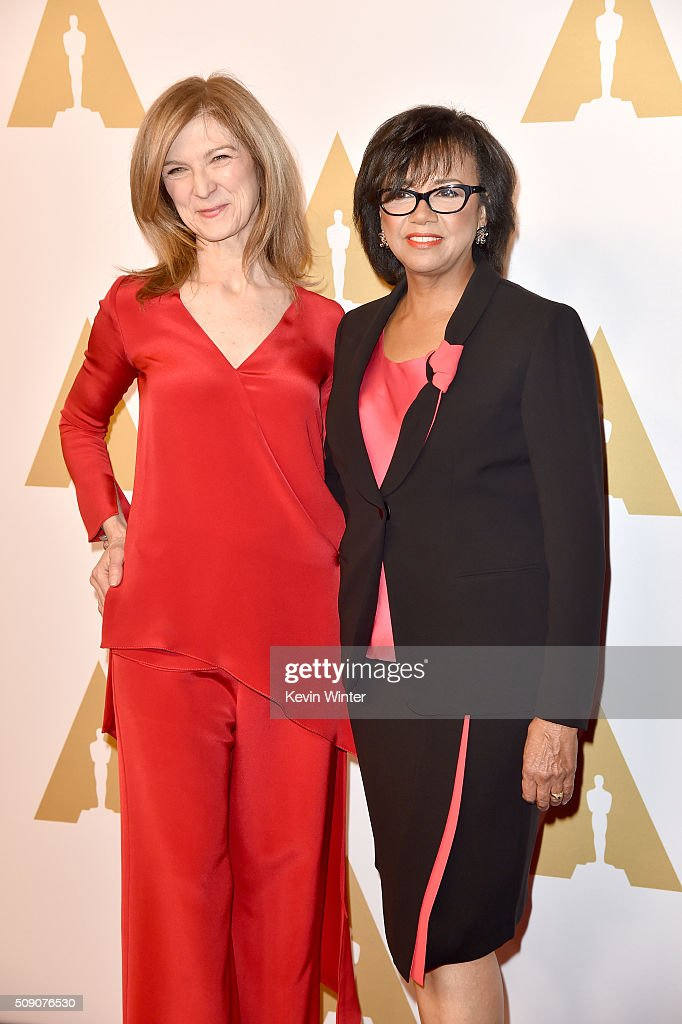 Academy of Motion Picture Arts and Sciences CEO Dawn Hudson and Academy of Motion Picture Arts and Sciences President Cheryl Boone Isaacs attend the...
