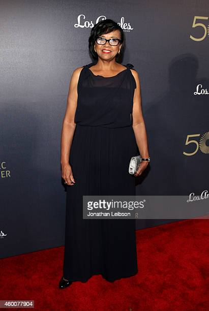 Academy of Motion Picture Arts and Sciences President Cheryl Boone Isaacs attends The Music Center's 50th Anniversary Spectacular at The Music Center...
