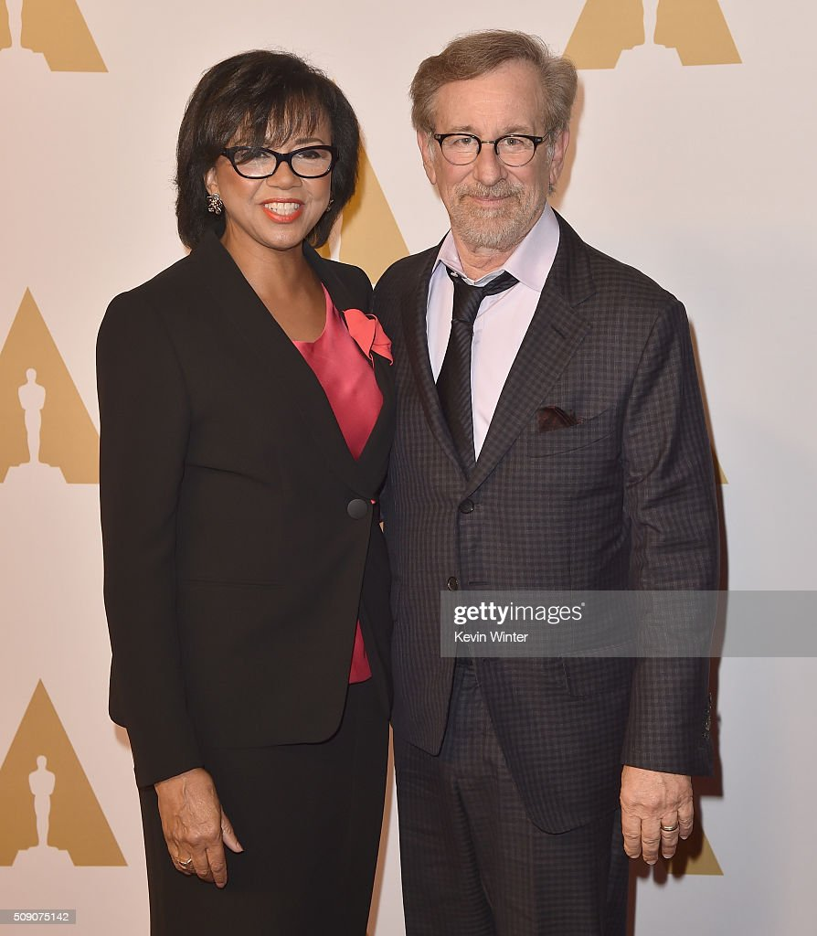Academy of Motion Picture Arts and Sciences President <a gi-track='captionPersonalityLinkClicked' href=/galleries/search?phrase=Cheryl+Boone+Isaacs&family=editorial&specificpeople=725500 ng-click='$event.stopPropagation()'>Cheryl Boone Isaacs</a> (L) and director <a gi-track='captionPersonalityLinkClicked' href=/galleries/search?phrase=Steven+Spielberg&family=editorial&specificpeople=202022 ng-click='$event.stopPropagation()'>Steven Spielberg</a> attend the 88th Annual Academy Awards nominee luncheon on February 8, 2016 in Beverly Hills, California.