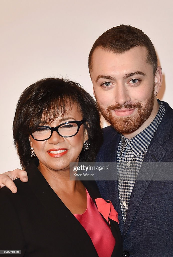 Academy of Motion Picture Arts and Sciences President <a gi-track='captionPersonalityLinkClicked' href=/galleries/search?phrase=Cheryl+Boone+Isaacs&family=editorial&specificpeople=725500 ng-click='$event.stopPropagation()'>Cheryl Boone Isaacs</a> (L) and singer-songwriter <a gi-track='captionPersonalityLinkClicked' href=/galleries/search?phrase=Sam+Smith+-+Chanteur&family=editorial&specificpeople=12336931 ng-click='$event.stopPropagation()'>Sam Smith</a> attend the 88th Annual Academy Awards nominee luncheon on February 8, 2016 in Beverly Hills, California.
