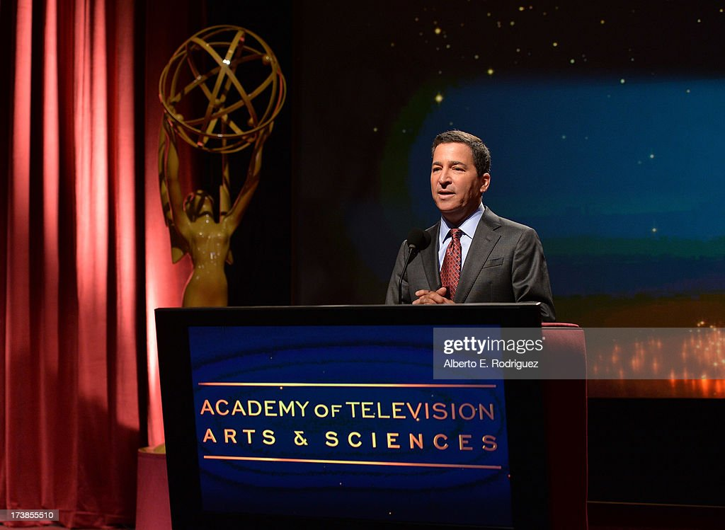 Academy of Television Arts & Sciences Chairman & CEO Bruce Rosenblum speaks onstage at the 65th Primetime Emmy Awards nominations at the Television Academy's Leonard H. Goldenson Theatre on July 18, 2013 in North Hollywood, California.