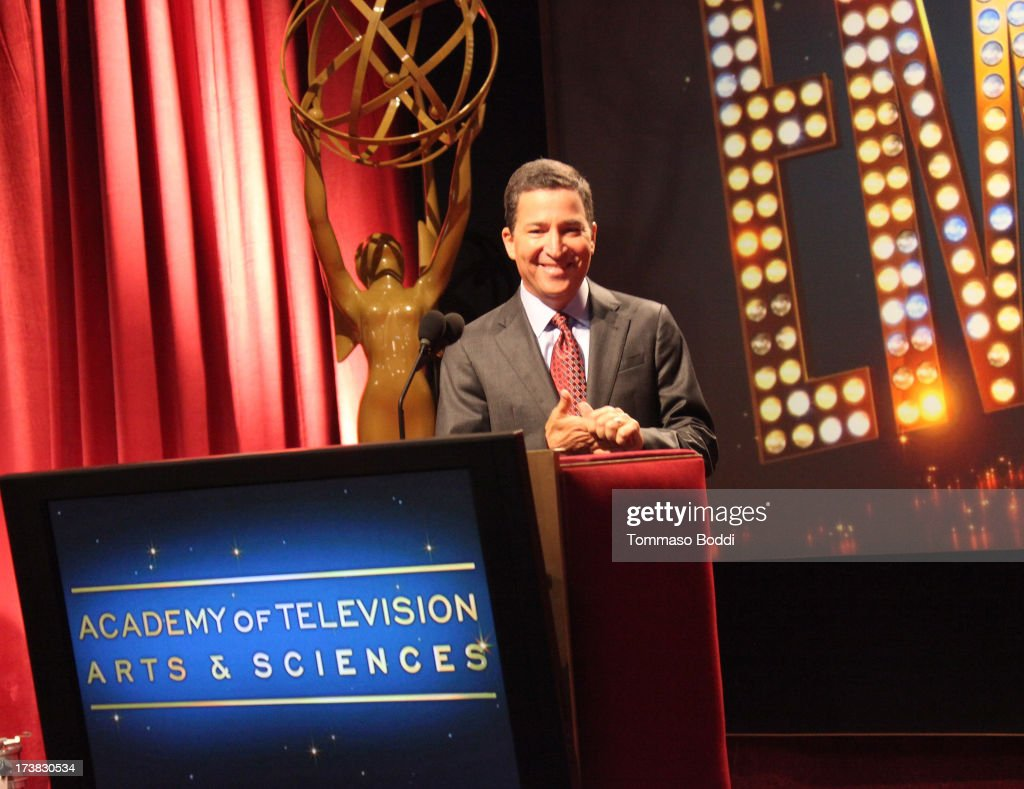 Academy of Television Arts & Sciences Chairman & CEO Bruce Rosenblum speaks onstage during the 65th Primetime Emmy Awards nominations at the Television Academy's Leonard H. Goldenson Theatre on July 18, 2013 in North Hollywood, California.