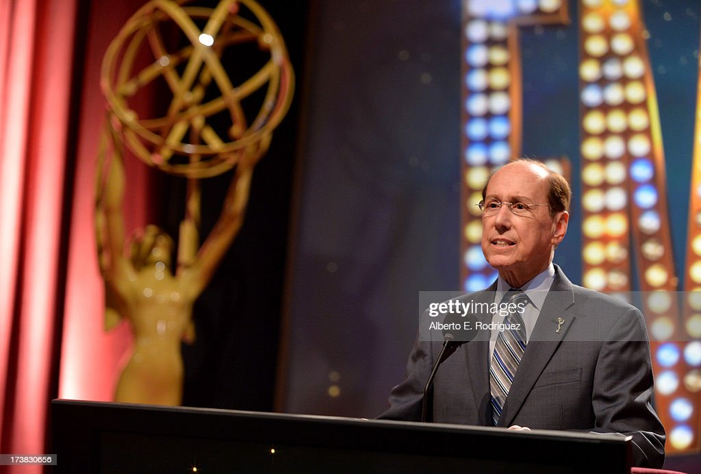 Academy of Television Arts & Sciences Outgoing President & CEO Alan Perris speaks onstage at the 65th Primetime Emmy Awards nominations at the Television Academy's Leonard H. Goldenson Theatre on July 18, 2013 in North Hollywood, California.
