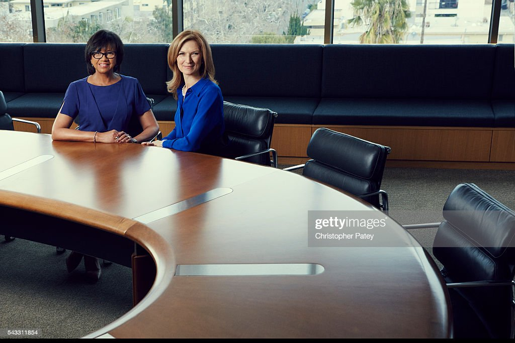 Academy president Cheryl Boone Isaacs and CEO Dawn Hudson are photographed for The Hollywood Reporter on January 23, 2016 in Los Angeles, California. Published Image.