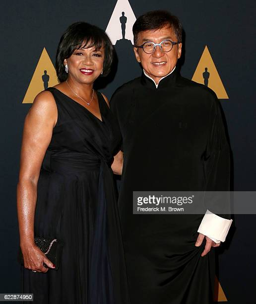 Academy President Cheryl Boone Isaacs and honoree Jackie Chan attend the Academy of Motion Picture Arts and Sciences' 8th annual Governors Awards at...