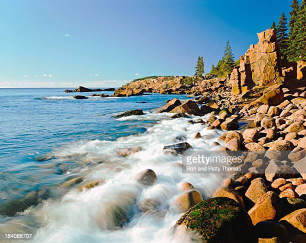 Acadia National Park's rocky Atlantic Ocean. (P)