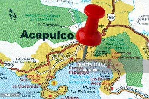 Acapulco Guerrero Mexico On A Map Photo – Acapulco Mexico Map