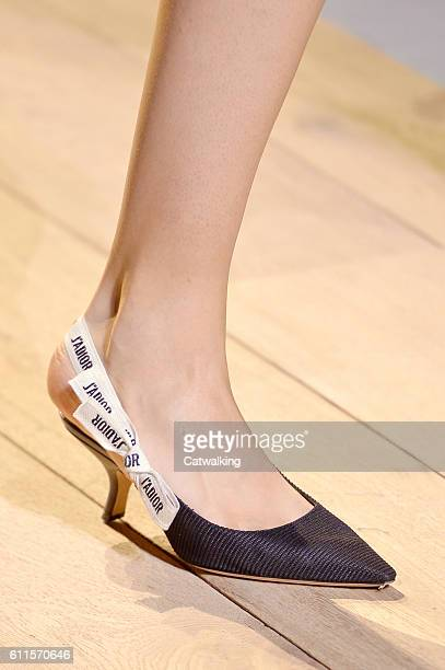 Accesories shoe detail on the runway at the Dior Spring Summer 2017 fashion show during Paris Fashion Week on September 30 2016 in Paris France