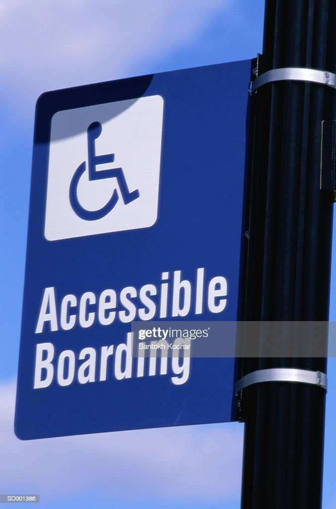 Accessible Boarding Sign