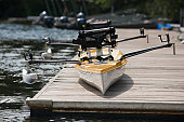 Accessible racing scull for disabilities on a dock