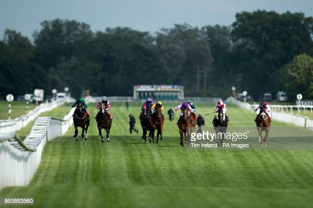 Accession wins the Betfred Goals Galore Ladies Day Handicap Stakes during the Betfred Ladies Day at Newbury Race Course Newbury