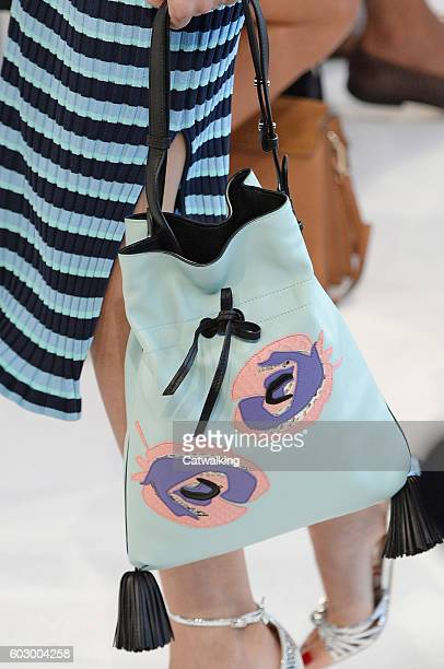 Accessories a bag detail on the runway at the Altuzarra Spring Summer 2017 fashion show during New York Fashion Week on September 11 2016 in New York...