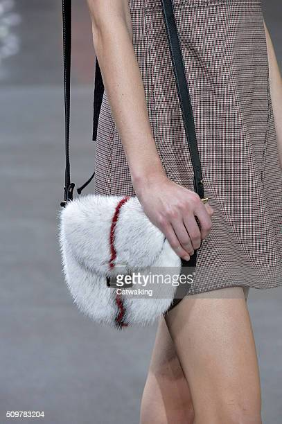Accessories a bag detail on the runway at the Jason Wu Autumn Winter 2016 fashion show during New York Fashion Week on February 12 2016 in New York...