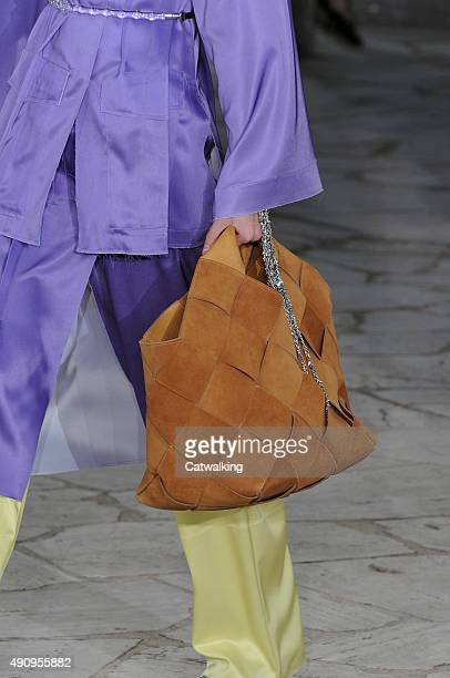 Accessories a bag detail on the runway at the Loewe Spring Summer 2016 fashion show during Paris Fashion Week on October 2 2015 in Paris France