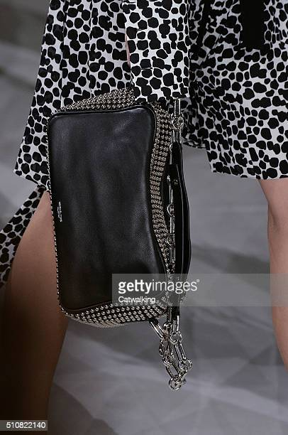 Accessories a bag detail on the runway at the Michael Kors Autumn Winter 2016 fashion show during New York Fashion Week on February 17 2016 in New...