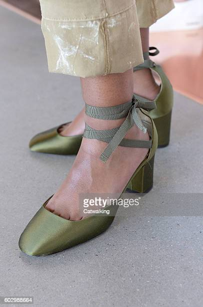 Accessories a shoe detail on the runway at the J Crew Spring Summer 2017 fashion show during New York Fashion Week on September 11 2016 in New York...
