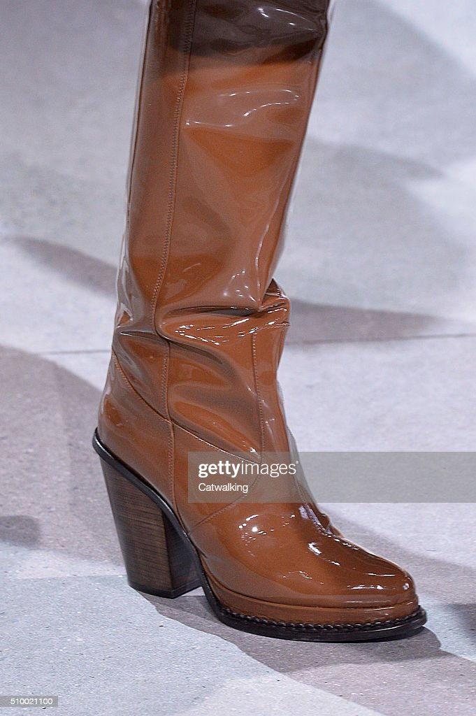 Accessories a shoe detail on the runway at the Lacoste Autumn Winter 2016 fashion show during New York Fashion Week on February 13, 2016 in New York, United States.