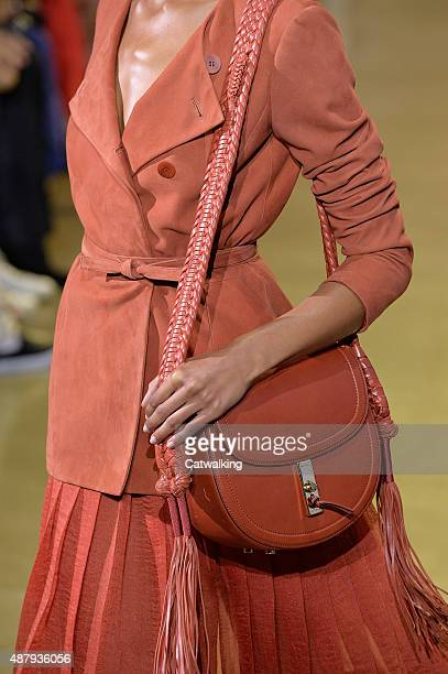 Accessories bag detail on the runway at the Altuzarra Spring Summer 2016 fashion show during New York Fashion Week on September 12 2015 in New York...