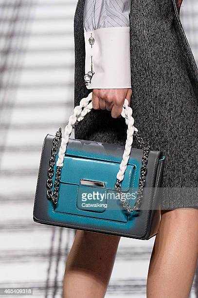 Accessories bag detail on the runway at the Balenciaga Autumn Winter 2015 fashion show during Paris Fashion Week on March 6 2015 in Paris France