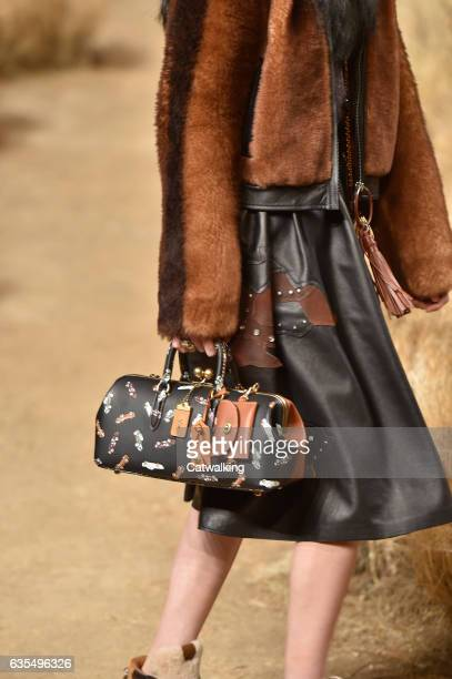 Accessories bag detail on the runway at the Coach Autumn Winter 2017 fashion show during New York Fashion Week on February 14 2017 in New York United...