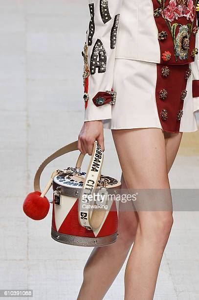 Accessories bag detail on the runway at the Dolce Gabbana Spring Summer 2017 fashion show during Milan Fashion Week on September 25 2016 in Milan...