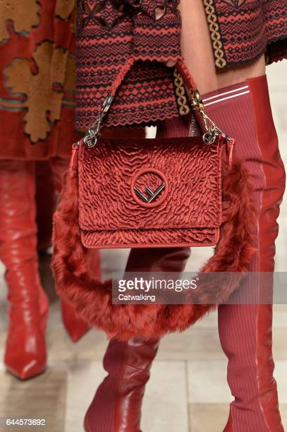 Accessories bag detail on the runway at the Fendi Autumn Winter 2017 fashion show during Milan Fashion Week on February 23 2017 in Milan Italy
